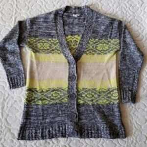 Eyeshadow Button-Front Cardigan Size M